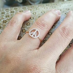 Jewelry - Dainty 14k Yellow Gold Peace Ring